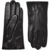 DentsBath Cashmere-lined Leather Gloves - Black