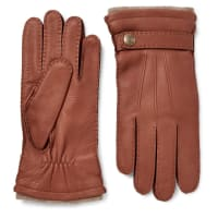 DentsGloucester Cashmere-lined Full-grain Leather Gloves - Braun