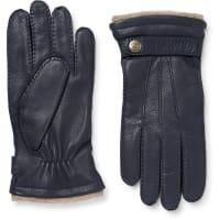 DentsGloucester Cashmere-lined Full-grain Leather Gloves - Navy