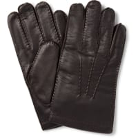 DentsShaftesbury Touchscreen Cashmere-lined Leather Gloves - Dark brown