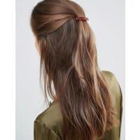 DesignB LondonSchlichte Haarspange in Schildplatt - Braun