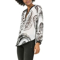 DesigualBlus_Relax, Blusa para Mujer, Blanco (Blanco 1000), 40 (Talla del Fabricante: XL)