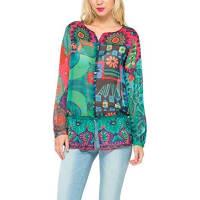 DesigualMAGIC MULTI - Camicia para donna, color navy, talla Small