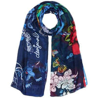 DesigualFoulard_Rectangle Boho Mix, Sciarpa Donna, Blu (Estate Blue 5016), Taglia Unica (Taglia Produttore: One Size)