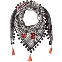 DesigualFoulard_Trian Norway Rombos, Chal para Mujer, Negro (Negro 2000), Talla Única (Talla del Fabricante: One Size)
