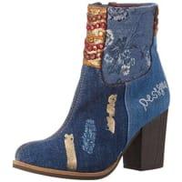 DesigualDenim Patch Folk - Botas cortas para mujer, color azul (jeans 5006)