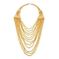 Devon LeighBeaded Multi-Strand Long Necklace, Yellow