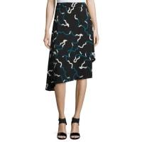 Diane Von FürstenbergBrenndah Asymmetric Silk-Stretch Skirt, Balestra Black
