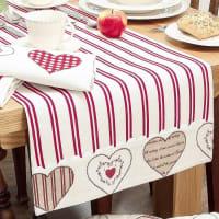 Dibor4th Anniversary Heart Table Linen Gift Set