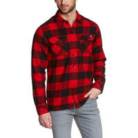 DickiesSacramento - Chemise casual - Taille normale - Manches longues - Homme - Rouge (Red) - Taille : Small