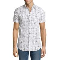 DieselMini Star-Print Short-Sleeve Shirt, White