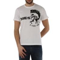 DieselT-Shirt for Men, Ulee, White, Cotton, 2016, L M S XL