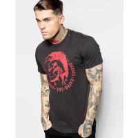 DieselT-Ulysse Mowhawk - T-Shirt mit Aufdruck - Schwarz