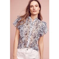 Dina AgamJolyn Lace Flutter Top