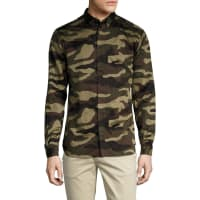 DiorCamouflage Button Down Sportshirt