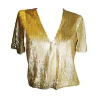 DiorFlapper Gold Sequins Bolero Jacket Top