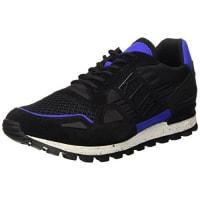 Dirk BikkembergsFend-Er 739 Low Shoe M Nylon/Nabuk, Pompes à plateforme plate homme - Noir - Nero (Black/Blue), 41 EU