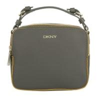 DKNYDkny Shoulder Bag - Active Rubberized Leather Crossbody Bag Dark Grey/Yellow - in grey - Shoulder Bag for ladies