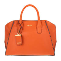 DKNYChelsea Vintage Style Small Tote Leather Orange in orange, Handle Bags