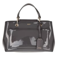 DKNYDkny Handle Bag - Small Patent Leather Satchel Bag Dark Charcoal - in grey - Handle Bag for ladies