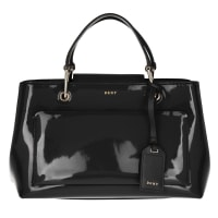 DKNYDkny Handle Bag - Small Patent Leather Satchel Black - in black - Handle Bag for ladies