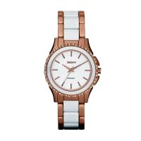 DKNYDkny Uhren - Westside Ceramic Rosegold White - in weiß aus Edelstahlarmband für Damen