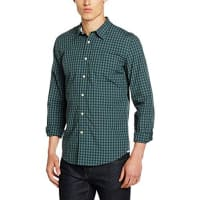 DockersLaundered Fitted, Camisa Hombre, Multicolor (Beckham Dark Forest), XL(UK)