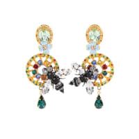 Dolce & GabbanaClipohrringe mit Kristallsteinen