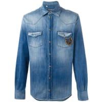 Dolce & GabbanaCamisa jeans com detalhe bordado
