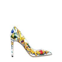 Dolce & GabbanaDÉCOLLETÉ KATE IN VERNICE STAMPA MAIOLICA 85MM