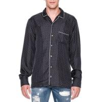 Dolce & GabbanaDot-Print Long-Sleeve Pajama Shirt, Navy
