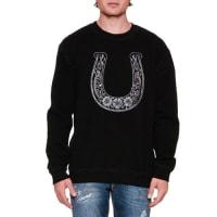 Dolce & GabbanaEmbroidered Horseshoe Crewneck Sweatshirt, Black