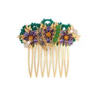 Dolce & GabbanaGoldfarbener Haarkamm mit Swarovski-Kristallen und Kunstperlen