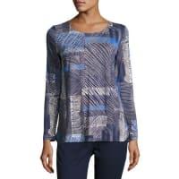Dolce & GabbanaGrid-Print Long-Sleeve Tunic, Blue