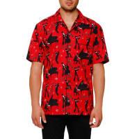 Dolce & GabbanaMambo-Print Short-Sleeve Shirt, Red