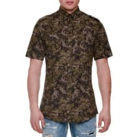 Dolce & GabbanaPixel Camo-Print Short-Sleeve Woven Shirt, Olive