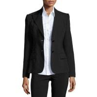 Dolce & GabbanaTurlington Two-Button Jacket, Black