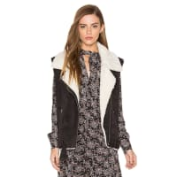 Dolce VitaMaelle Faux Fur Vest in Charcoal