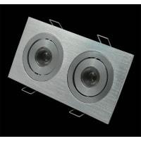 Domus LightingLED Downlight Aluminium Rectangle Double 2 Way Tilt Adjustable Puk 05