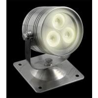 Domus LightingLED Underwater Light Three Stainless Steel in 3W 3200K 9cm IP68 Fluid
