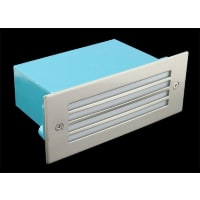 Domus LightingLED Wall Step Light Exterior Recessed Grille Rectangle 1.5W in Blue