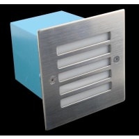 Domus LightingLED Wall Step Light Exterior Recessed Grille Square 1.5W in Blue 11cm