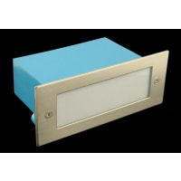Domus LightingLED Wall Step Light Exterior Recessed Rectangle 1.5W in Blue 17cm