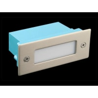 Domus LightingLED Wall Step Light Exterior Recessed Rectangle 1W in Blue 11cm 12V
