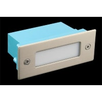 Domus LightingLED Wall Step Light Exterior Recessed Rectangle 1W in Blue 11cm 240V