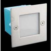 Domus LightingLED Wall Step Light Exterior Recessed Square 0.8W in Blue 7cm 240V