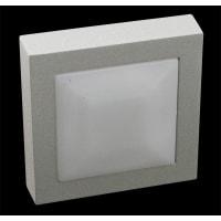 Domus LightingLED Wall Step Light Exterior Square 0.5W in 4500K 7cm 12V IP65 Quad