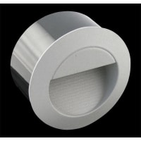 Domus LightingLED Wall Washer Light Exterior Recessed Silver Round 1.2W in 4500K