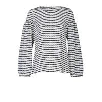 Dorothee SchumacherCURLY STRIPE t- blouse cropped sleeve 1/1