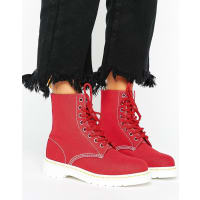 Dr. MartensCanvas Boot - Red